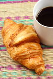 Coffee break and croissant Royalty Free Stock Image
