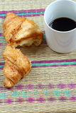 Coffee break and croissant Stock Image