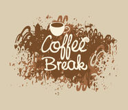 Coffee break with a cup Stock Images