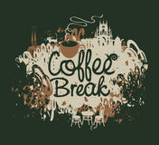 Coffee break with a cup Royalty Free Stock Photography