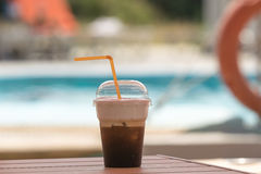 Coffee break for a dive. Royalty Free Stock Image
