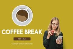 Coffee Break Drink Free Time Concept Stock Photos