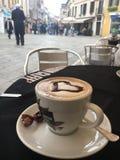 Coffee break. Drinking coffee in Venice restaurant Royalty Free Stock Photos