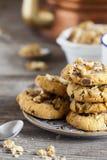 Coffee Break with homemade Walnut Chili Cookies Stock Photo