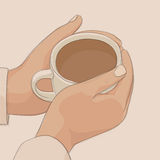 Coffee break illustration Royalty Free Stock Images
