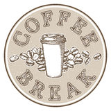 Coffee break label Stock Photo