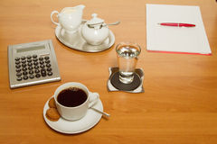 Coffee break. In a meeting Royalty Free Stock Photos
