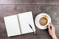 Coffee break notes royalty free stock photography