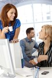 Coffee break in office Stock Photos