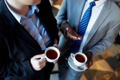Coffee Break in Office Royalty Free Stock Photography