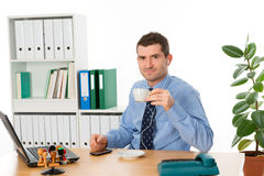 Coffee break in the office Royalty Free Stock Photography