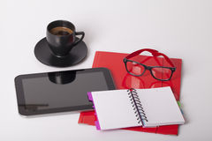 Coffee break at the office. Selective focus and small depth of field Royalty Free Stock Photos