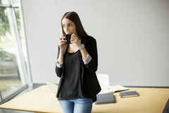 Coffee break in the office Stock Images