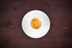 Coffee break, one cup of italian espresso coffee Stock Photos