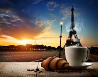 Coffee break in Paris Stock Image