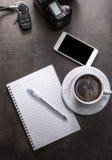 Coffee break of photographer. Stock Photo