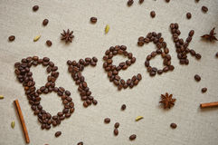 Coffee break poster Royalty Free Stock Photography