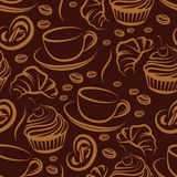 Coffee break. seamless background Royalty Free Stock Images