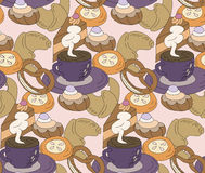 Coffee-break seamless Royalty Free Stock Photos