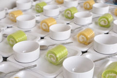 Coffee break set during meeting Stock Images