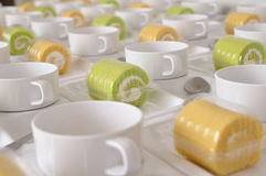 Coffee break set during meeting Royalty Free Stock Photography