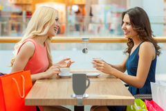 Coffee break after shopping. Royalty Free Stock Photo