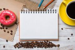 Coffee break with snack Stock Photo