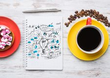 Coffee break with snack Royalty Free Stock Image