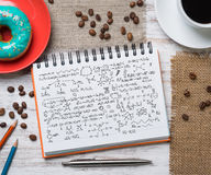 Coffee break with snack Royalty Free Stock Photography