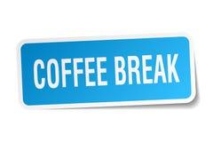Coffee break square sticker Royalty Free Stock Photo
