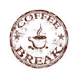 Coffee break stamp stock illustration