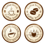 Coffee break stamp Stock Photography
