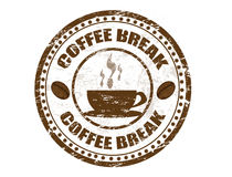 Coffee break stamp Stock Photos
