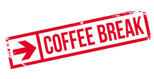 Coffee break stamp Royalty Free Stock Images