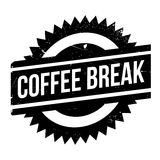 Coffee break stamp Royalty Free Stock Photography