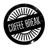 Coffee break stamp Stock Images