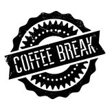 Coffee break stamp. Grunge design with dust scratches. Effects can be easily removed for a clean, crisp look. Color is easily changed Royalty Free Stock Photography