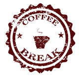 Coffee Break Stamp Vector Royalty Free Stock Photography