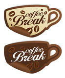 Coffee Break stickers. Royalty Free Stock Photos