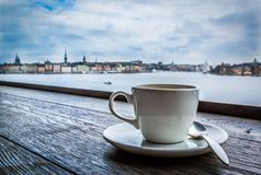 Coffee Break in Stockholm, Sweden. Also known as Fika Stock Images