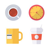 Coffee break or tea time icons Stock Photography