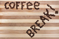 Coffee Break text Stock Image