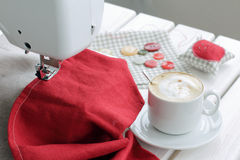 Coffee break time favorite hobby Royalty Free Stock Photography