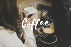 Coffee Break Time Lifestyle Relax Word Graphic stock photography