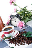 Coffee break time. Lovely home concept, coffee break Royalty Free Stock Photos