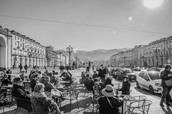 Coffee break in Turin (Torino), Italy Stock Photo