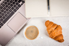 Coffee break on workplace Royalty Free Stock Images