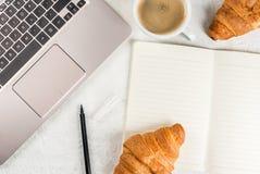 Coffee break on workplace Stock Photo