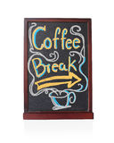 Coffee break written on chalkboard Royalty Free Stock Image
