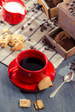 Coffee for breakfast with cookie royalty free stock images